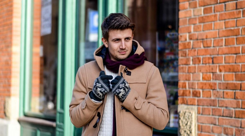 GMALE by Grzegorz Paliś, blog o modzie męskiej, budrysówka męska, beżowa kurtka zimowa dla mężczyzn, brogsy