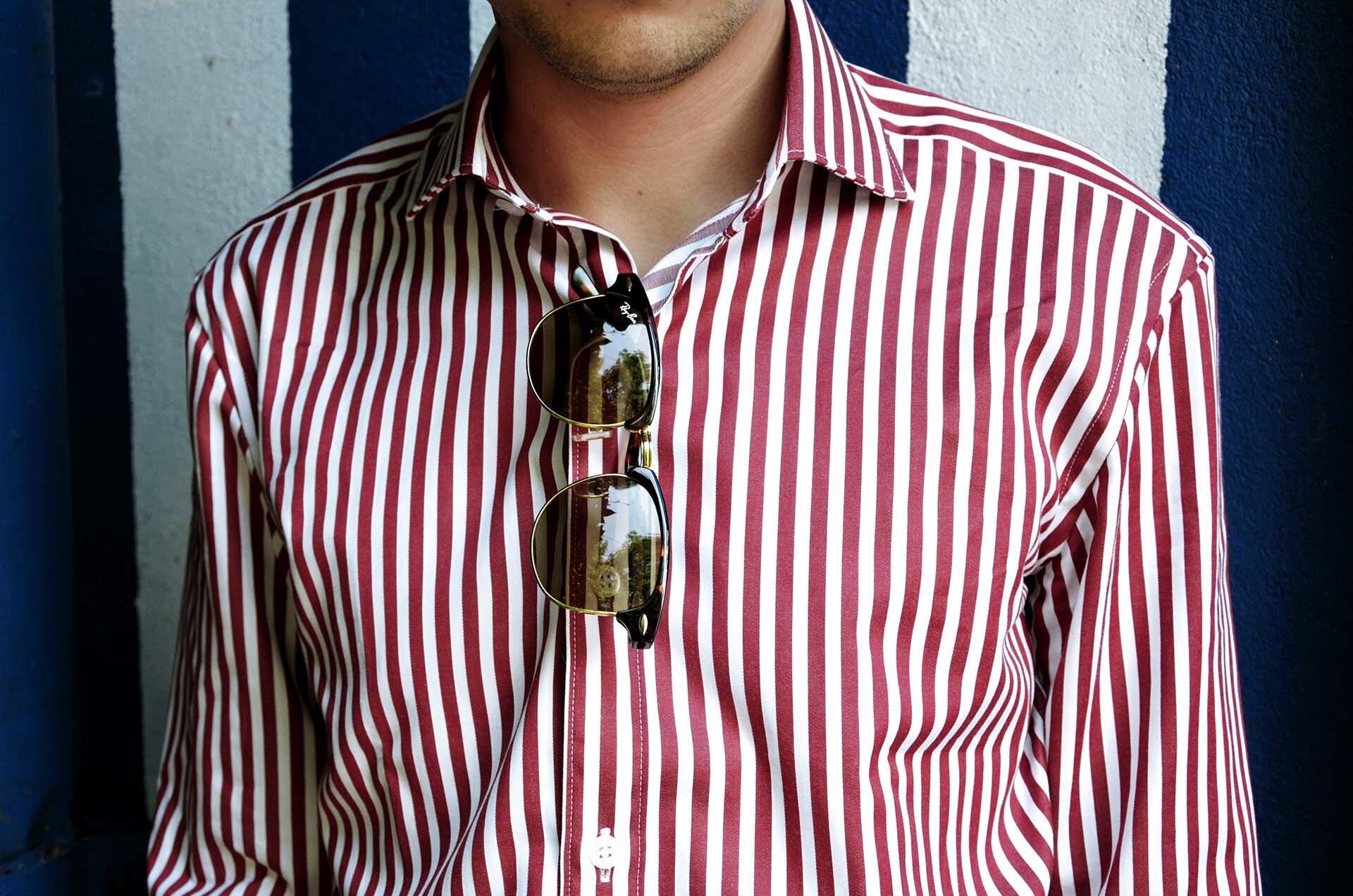 GMALE by Grzegorz Paliś, blog o modzie męskiej, koszula w paski, James Button, modne koszule, białe spodnie męskie, Kazimierz, Ulica Szeroka