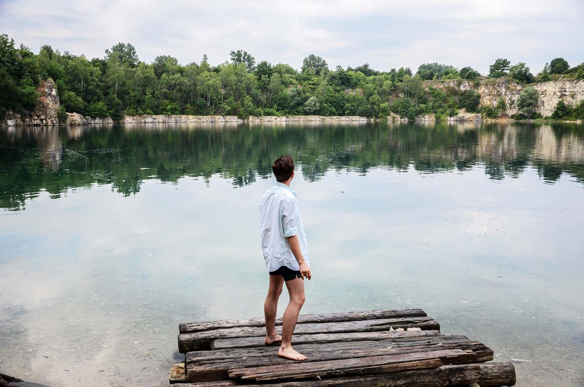 GMALE by Grzegorz Paliś, blog o modzie męskiej, Co ubrać na plaże? Mężczyzna na plaży, Kraków, Zakrzówek