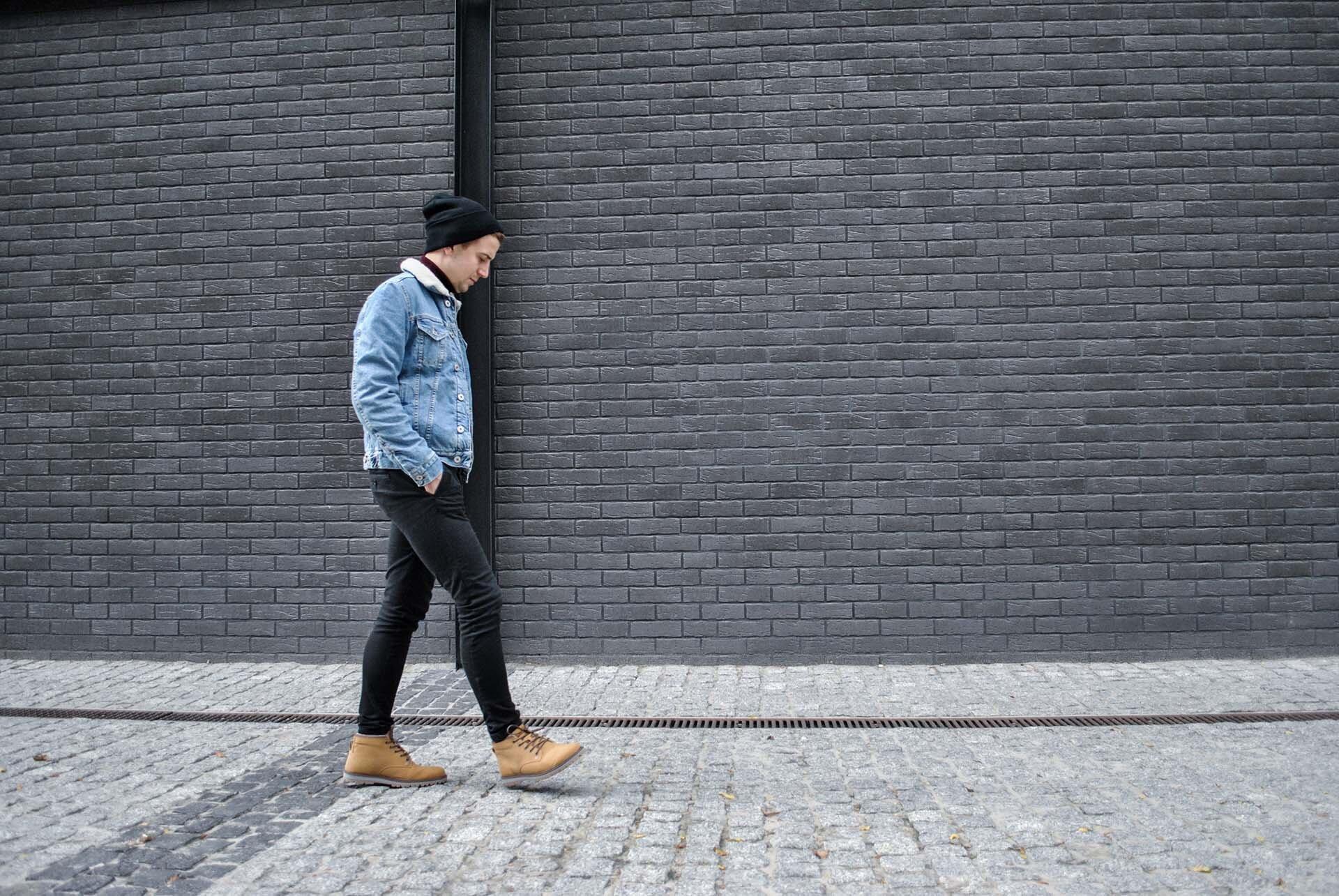 GMALE by Grzegorz Paliś, blog o modzie męskiej, Kurtka dżinsowa z kożuchem, Kurtka jeans§owa, Bordowy golf, Casual
