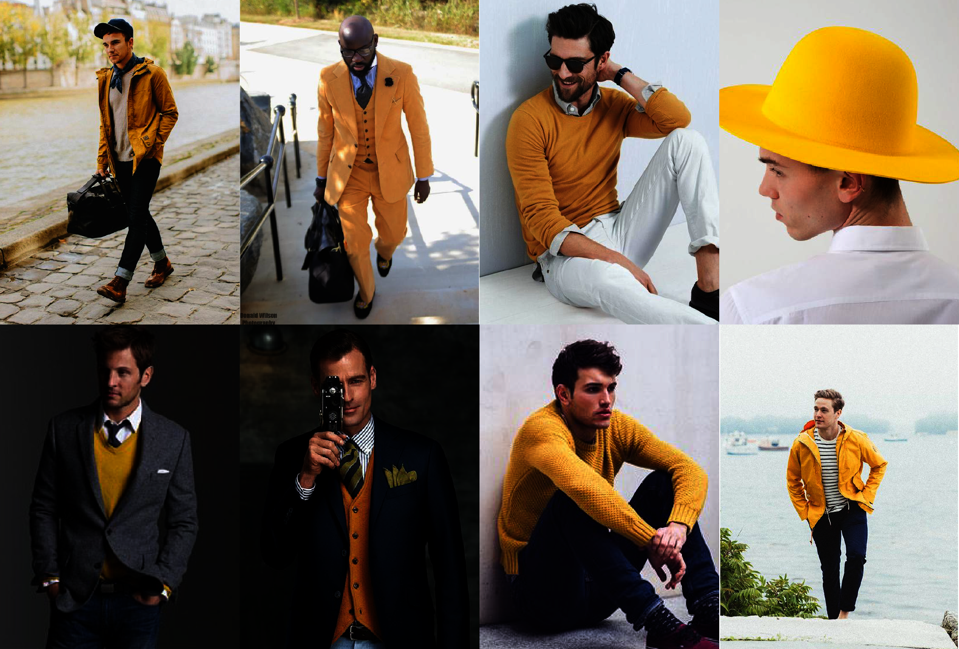 Łączenie kolorów - żółty - kolory pasujące do żółtego