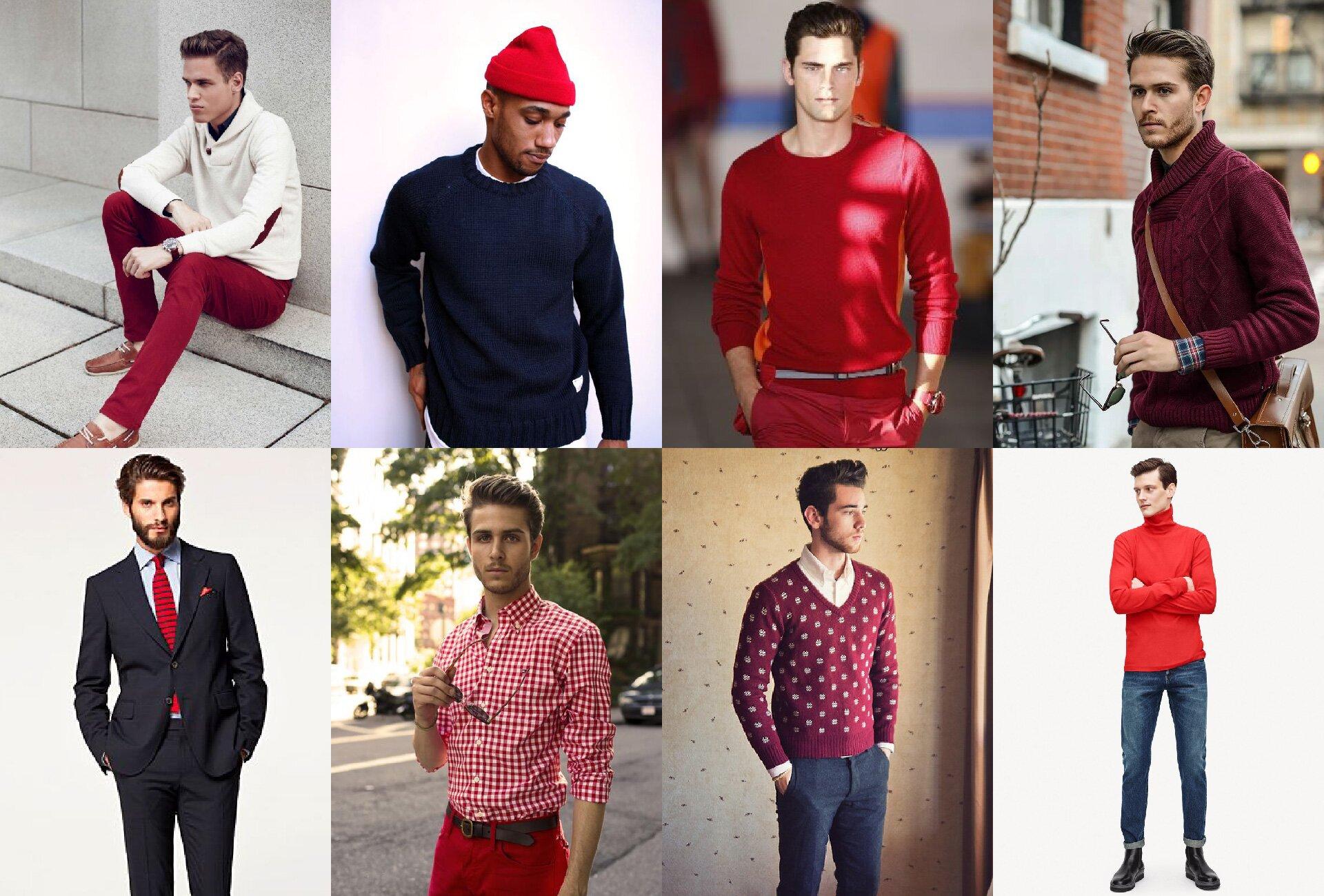 Łączenie kolorów - czerwony - kolory pasujące do czerwonego