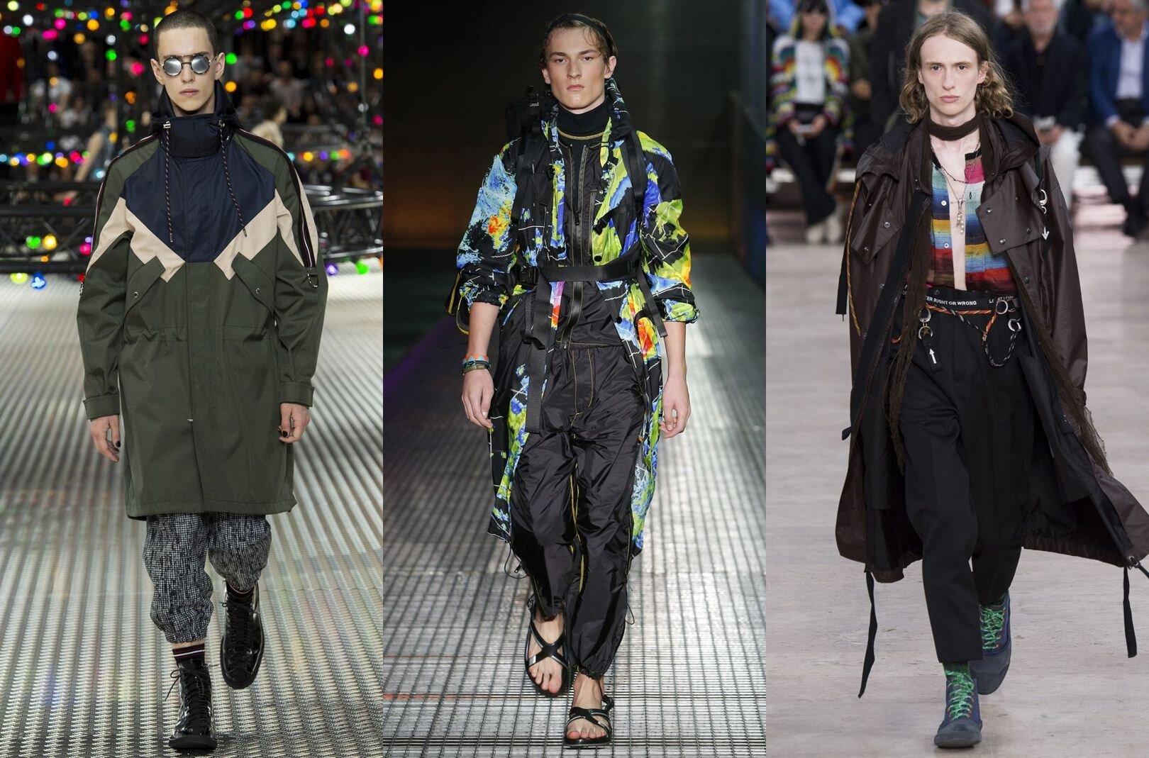 Trendy w modzie męskiej wiosna-lato 2017, Kurtki i płaszcze w techniczne wzory