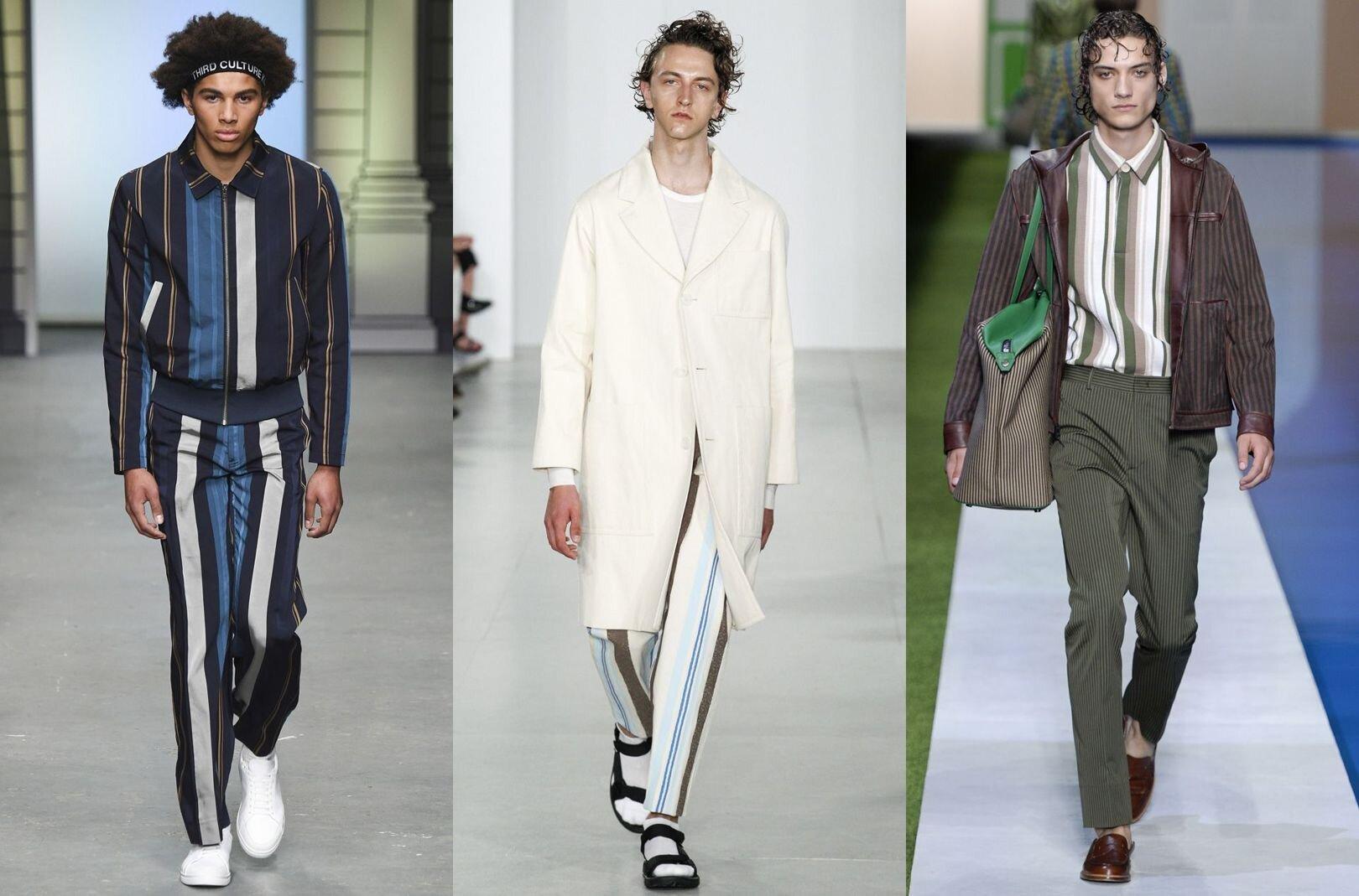 Trendy w modzie męskiej wiosna-lato 2017, Styl marynarski, Szerokie Pasy