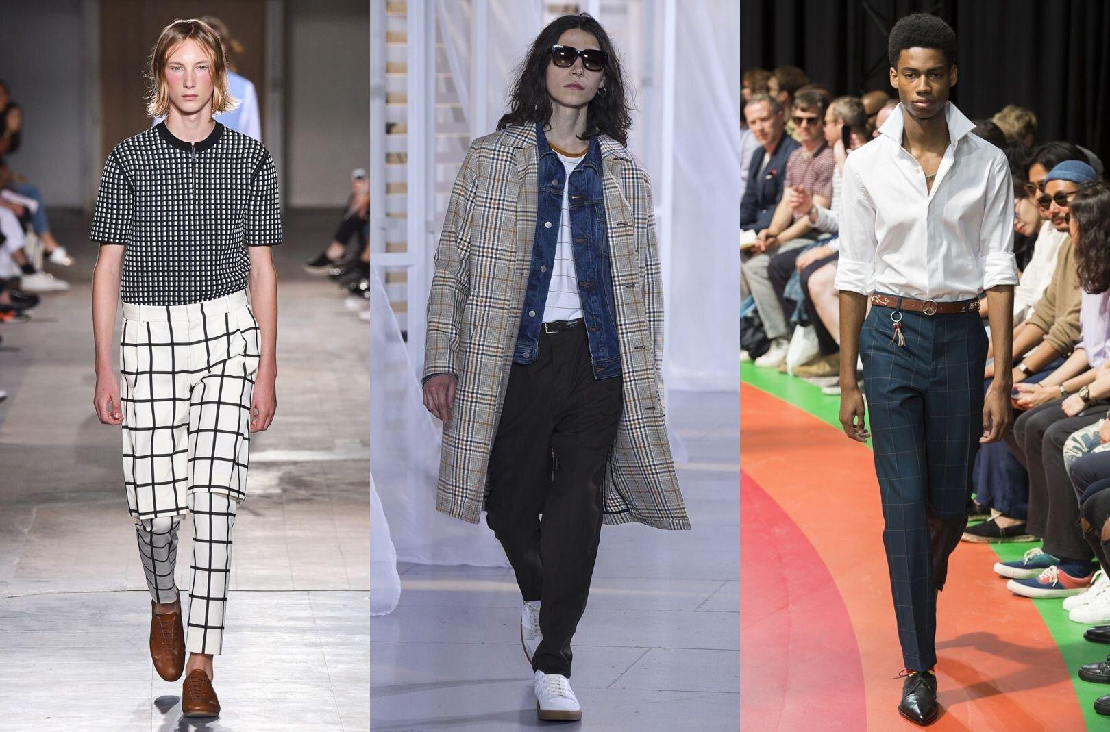 Trendy w modzie męskiej wiosna-lato 2017, Krata, Krata Księcia Walii na wybiegach