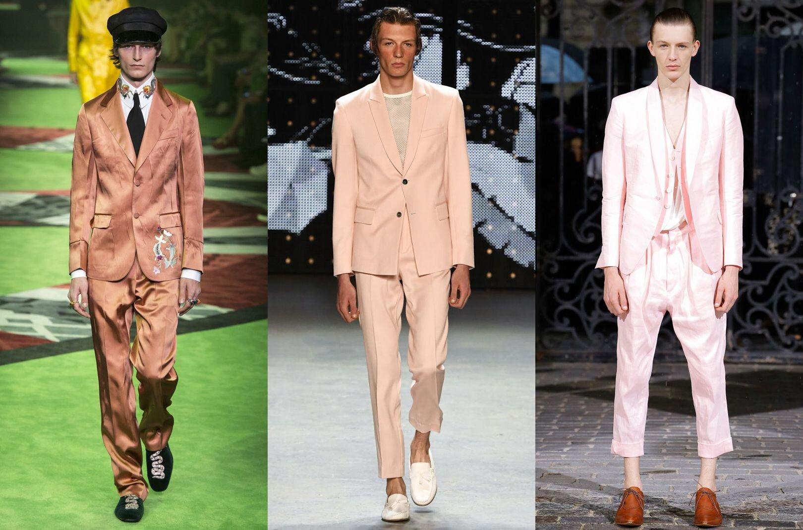 Trendy w modzie męskiej wiosna-lato 2017, Kolor różowy