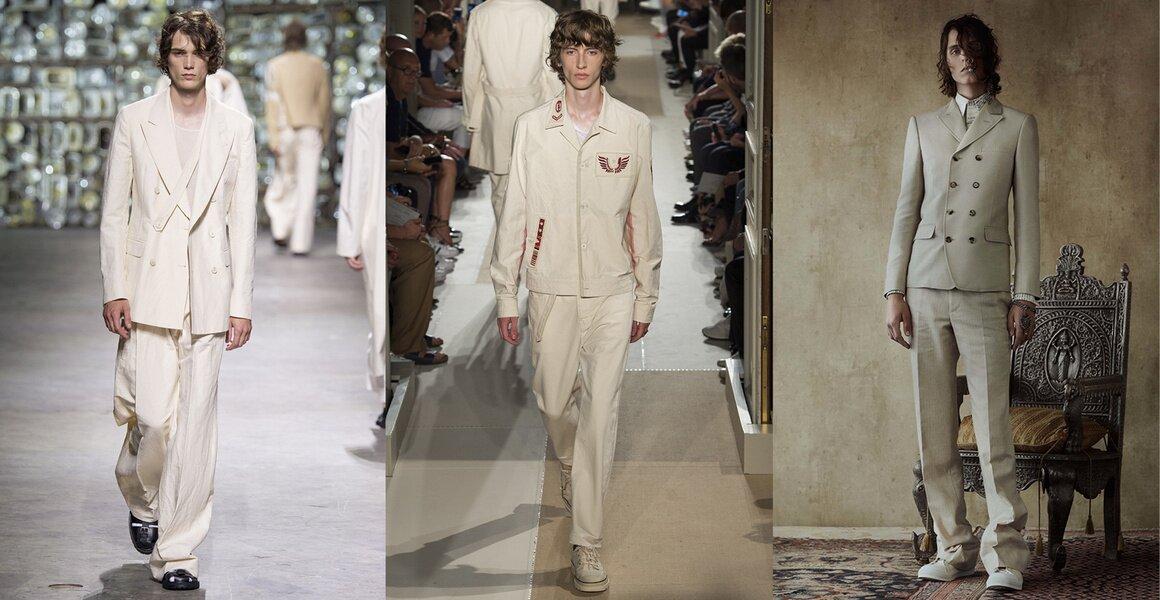 Trendy w modzie męskiej wiosna-lato 2017, Beżowy total look, All beige everyting