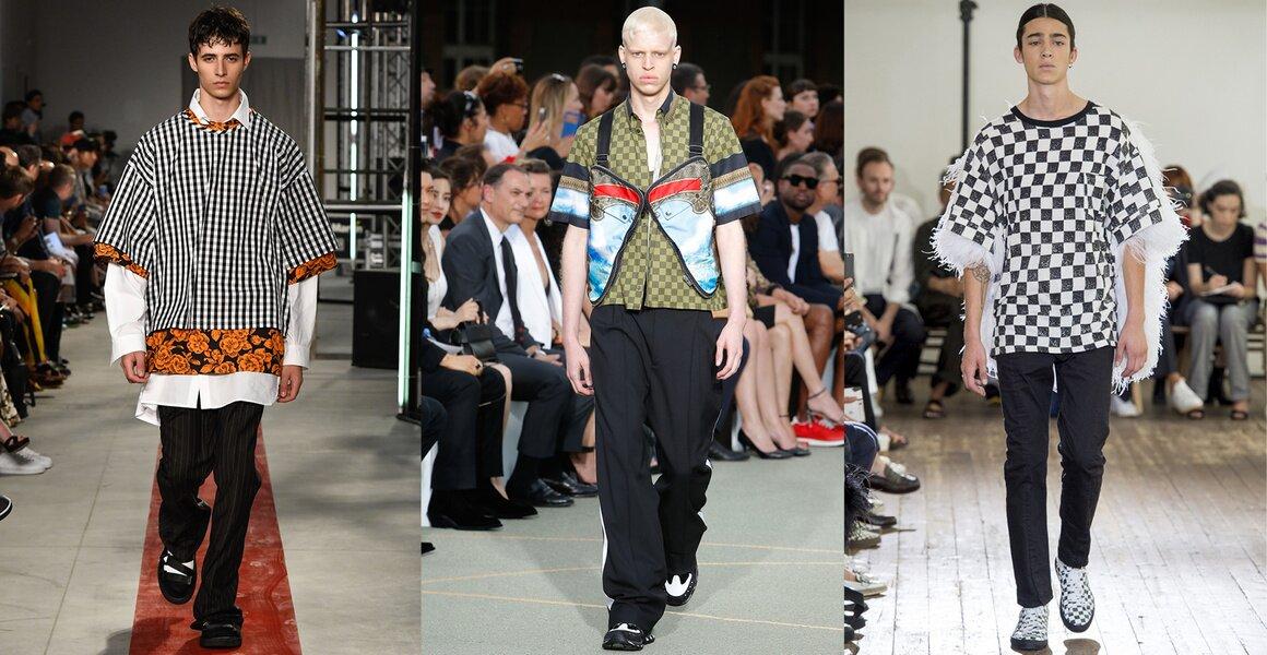 Trendy w modzie męskiej wiosna-lato 2017, Krata