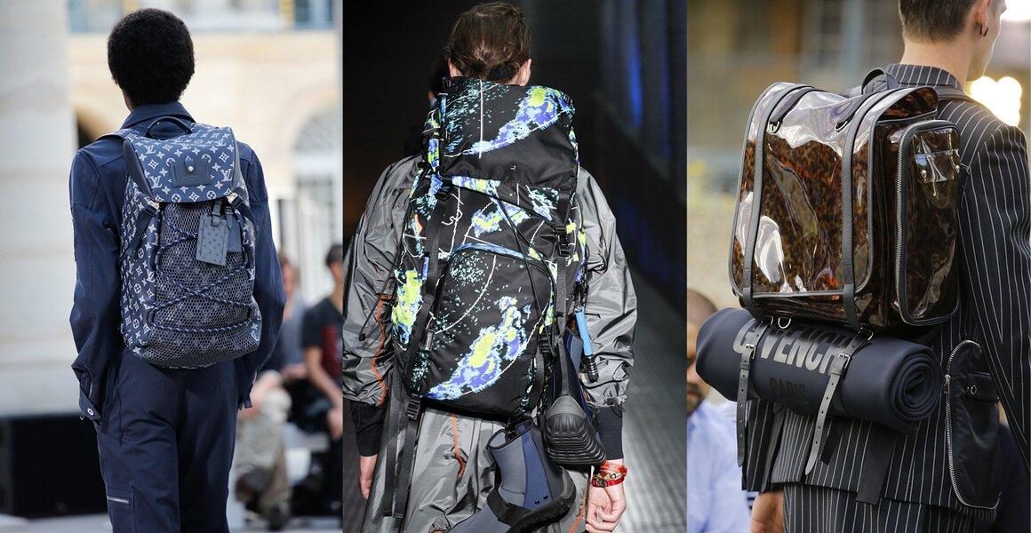 Trendy w modzie męskiej wiosna-lato 2017, Duże plecaki
