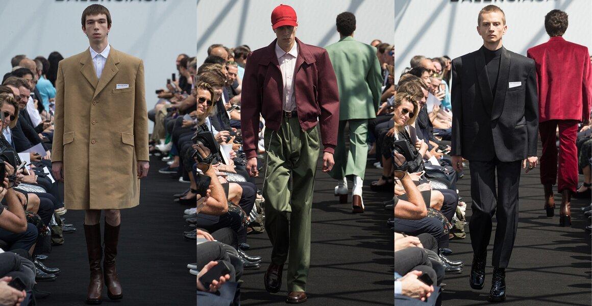 Trendy w modzie męskiej wiosna-lato 2017, Balenciaga, Szerokie ramiona