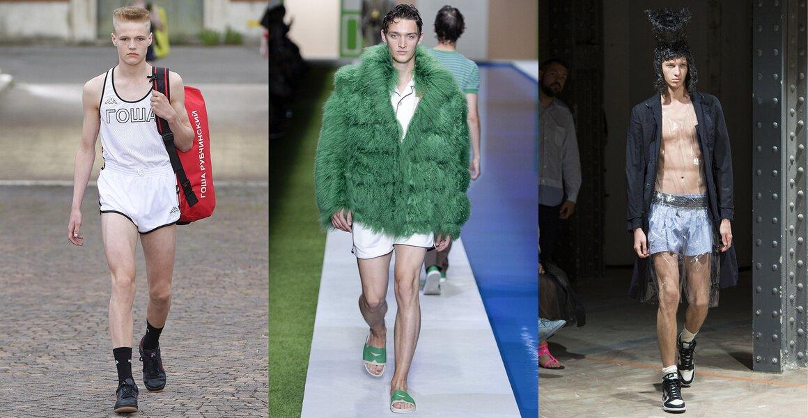 Trendy w modzie męskiej wiosna-lato 2017, Krótkie szorty