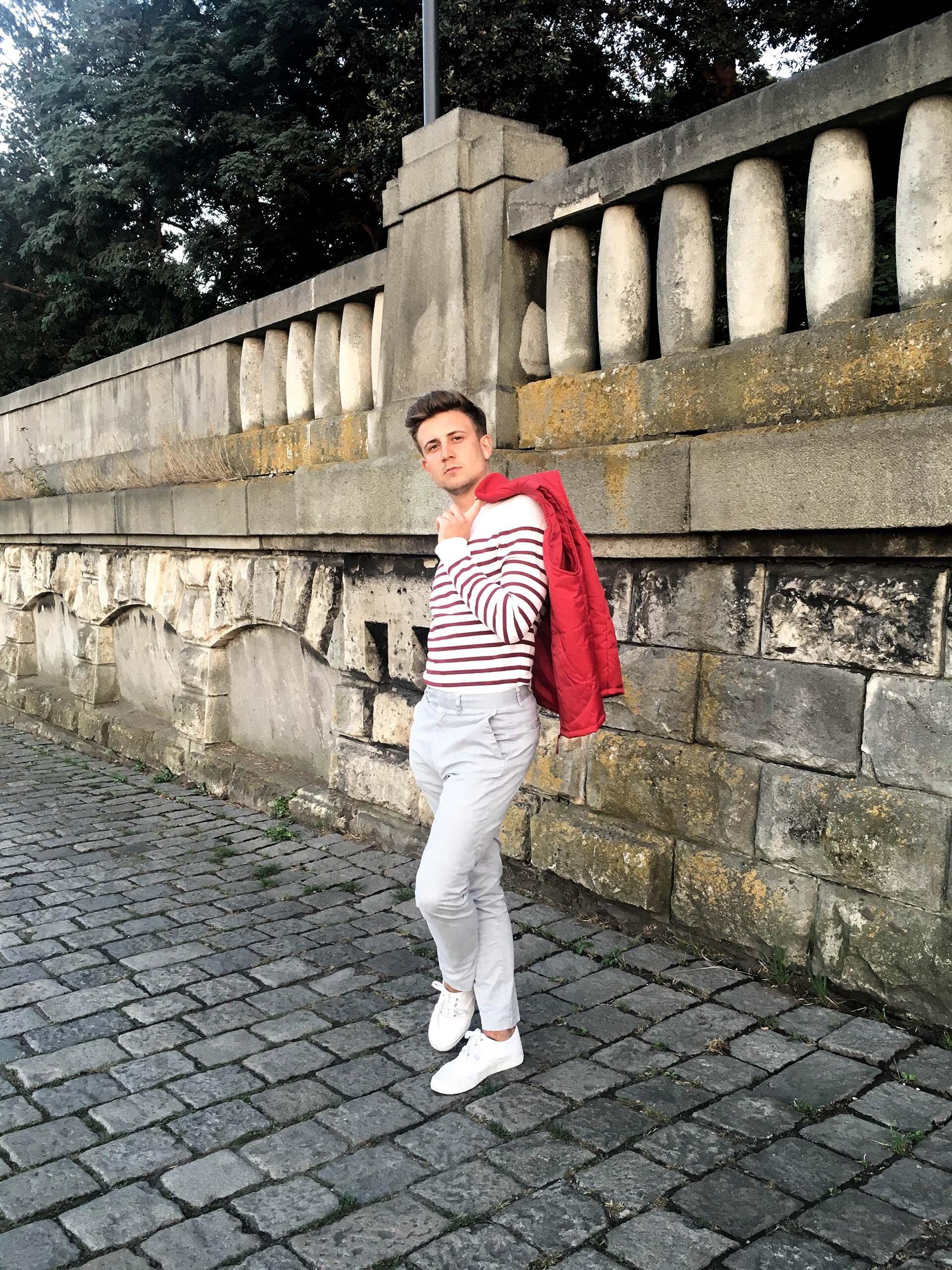 GMALE, Grzegorz Paliś, Bezrękawnik Bon Prix, Blog o modzie męskiej, Czerwony bezrękawnik męski