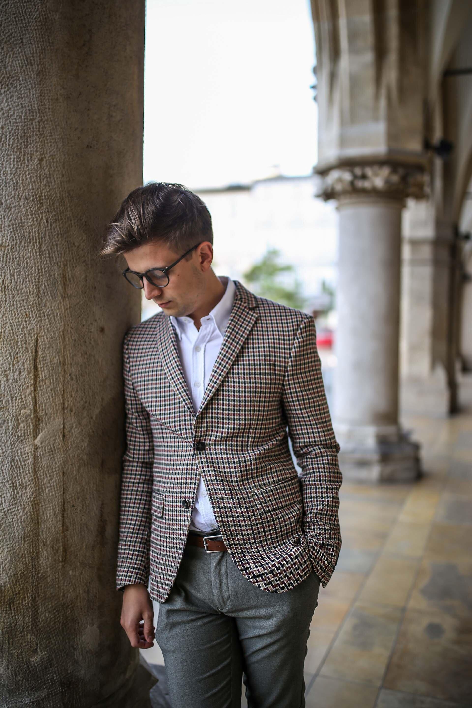 Grzegorz Paliś, GMALE blog o modzie męskiej, blog dla młodych mężczyzn, blog dla świadomych mężczyzn, Jesienna marynarka, Marynarka w kratę, Marynarka Zara