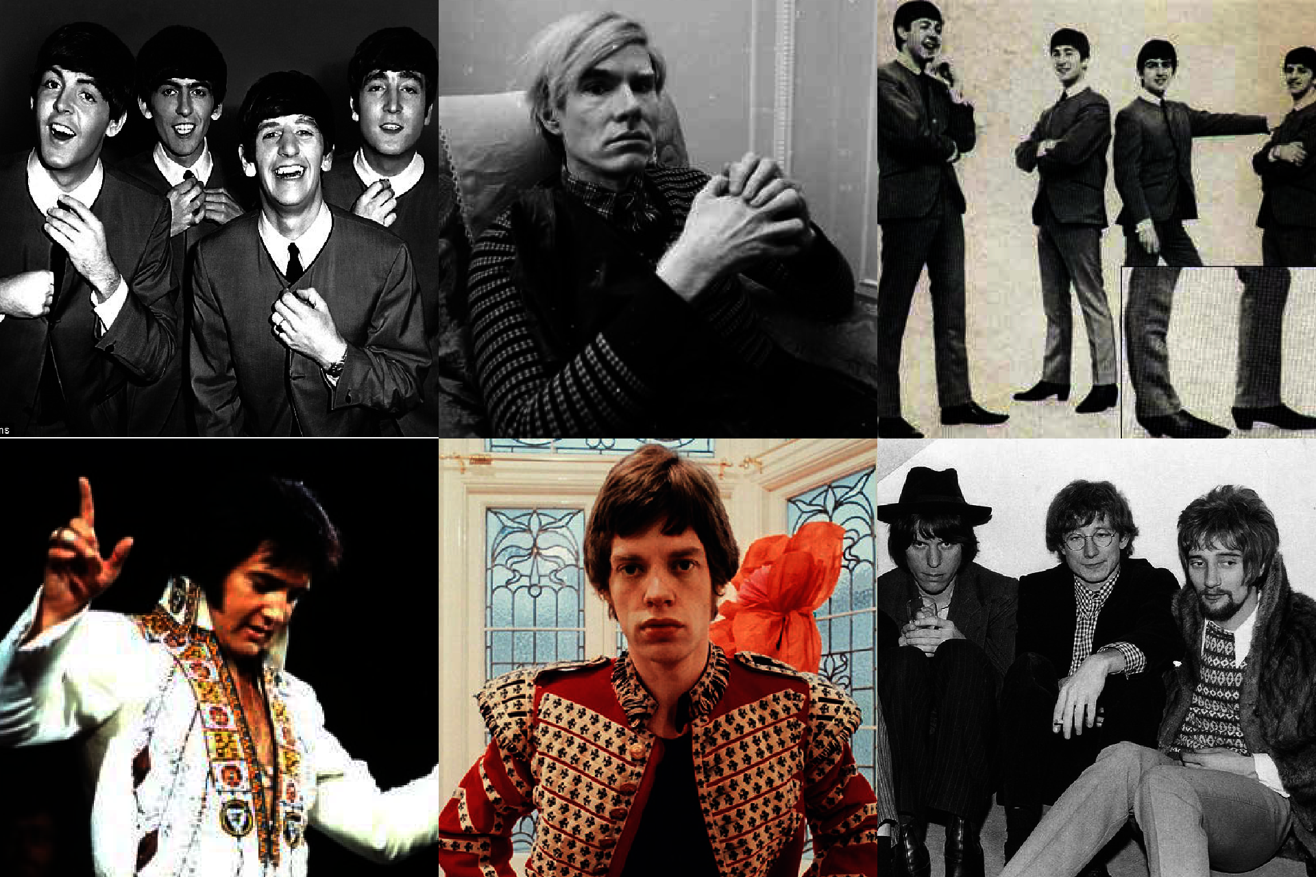Historia mody męskiej, lata 60. w modzie męskiej, styl the Beatles, styl Andy Warhola