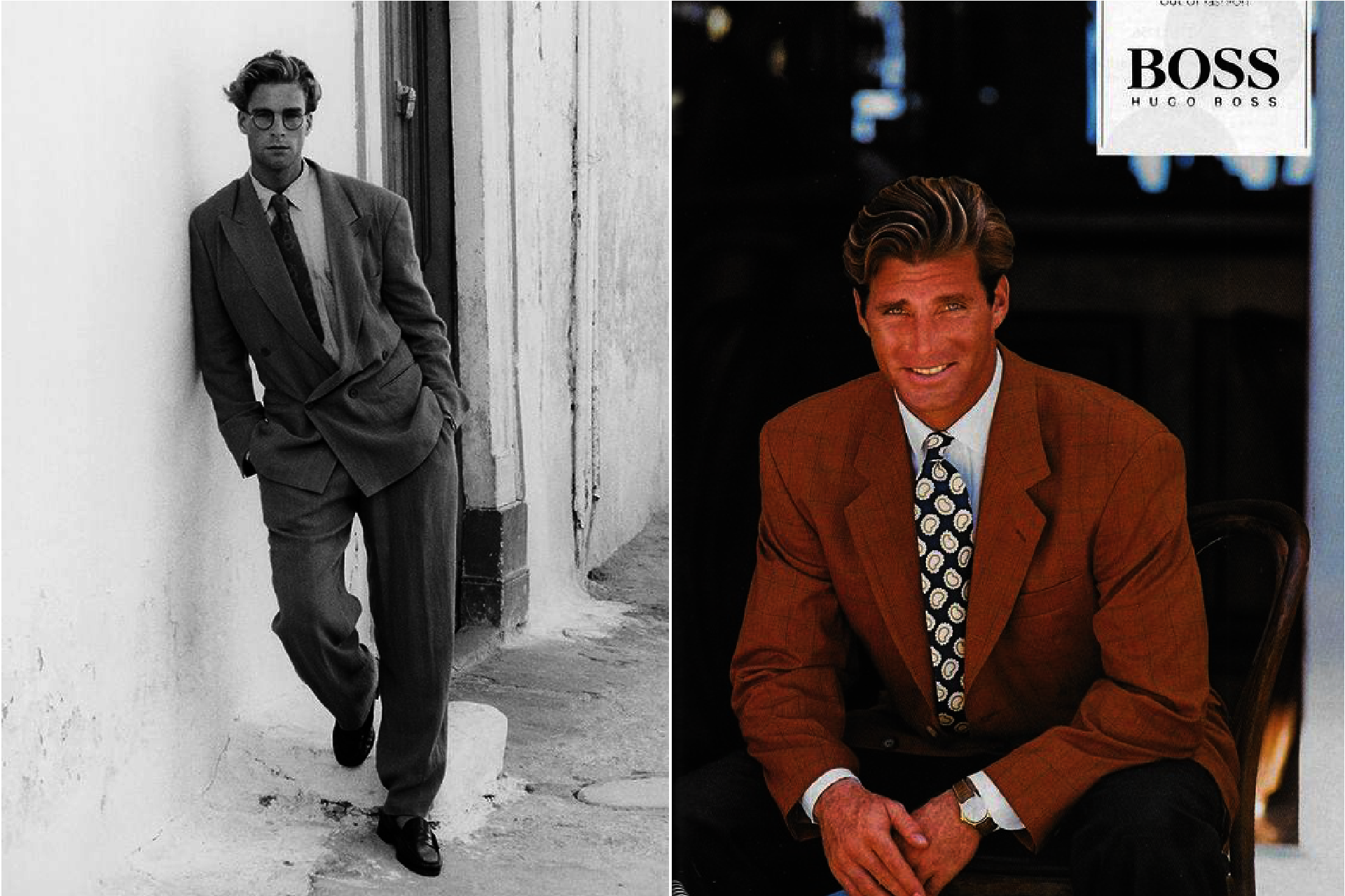 Historia mody męskiej, lata 90. w modzie męskiej, Styl businessowy lat 90.