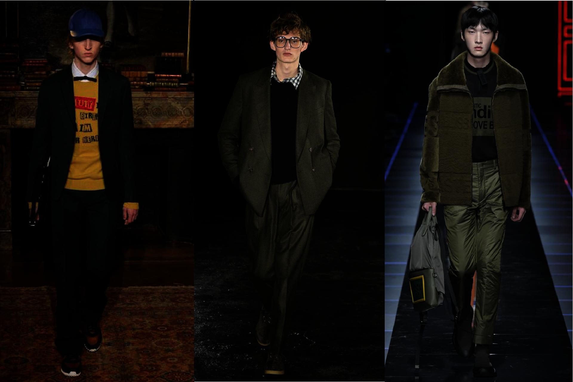Trendy w modzie męskiej jesień-zima 2017, Kolor mchu, Mech w modzie męskiej, Pokazy mody męskiej jesień-zima 2017