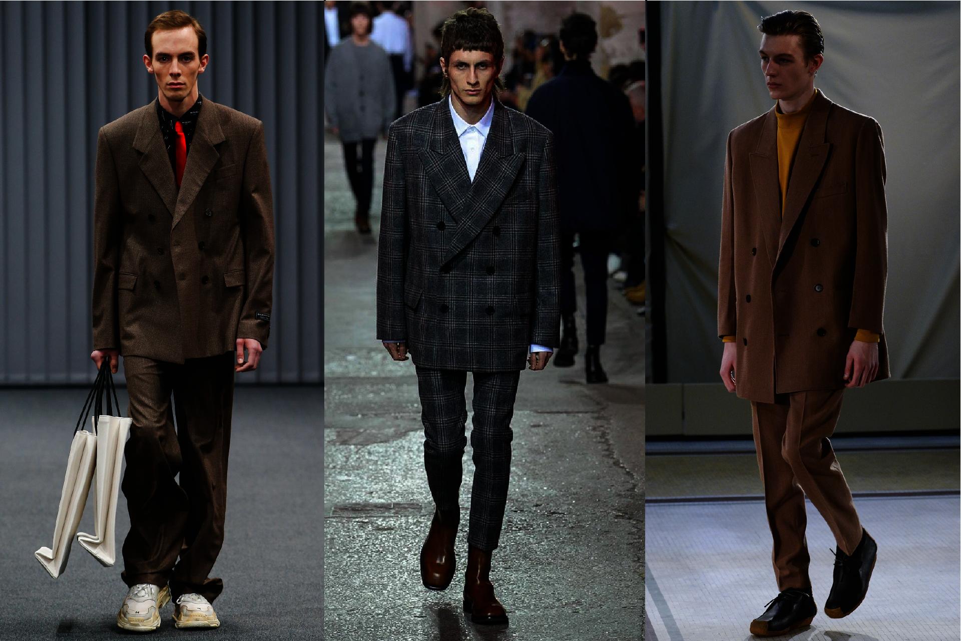 Trendy w modzie męskiej jesień-zima 2017, Pokazy mody męskiej jesień-zima 2017, Marynarka dwurzędowa, Dwurzędówka w modzie męskiej, Moda męska, GMALE