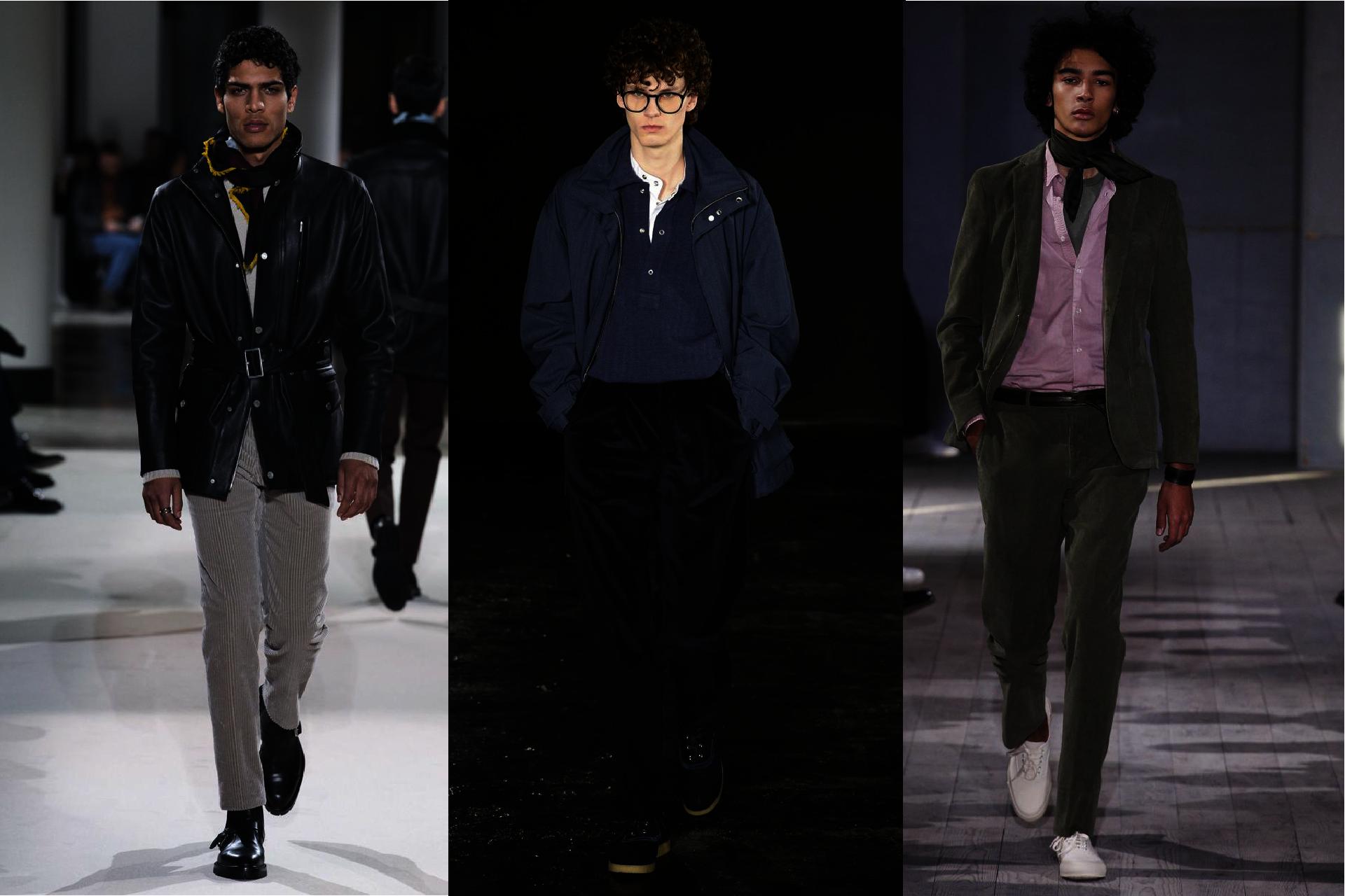 Trendy w modzie męskiej jesień-zima 2017, Pokazy mody męskiej jesień-zima 2017, Sztruks w modzie męskiej, Spodnie sztruksowe męskie, Sztruks wraca do mody