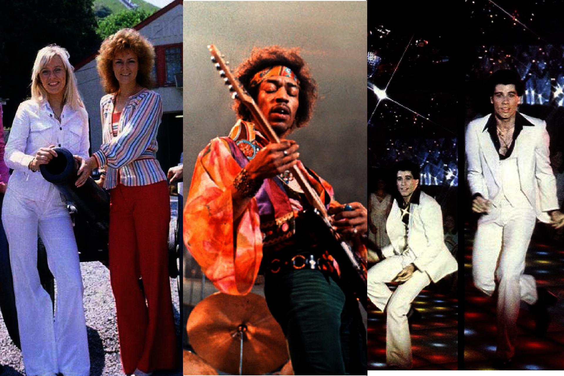Historia mody męskiej, lata 70. w modzie męskiej, Styl hipisowski, Styl Abby, Styl Disco