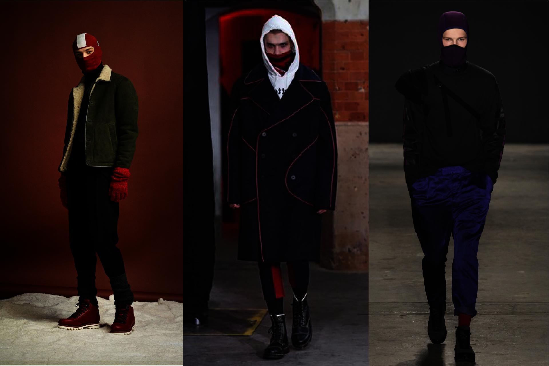 Trendy w modzie męskiej jesień-zima 2017, Pokazy mody męskiej jesień-zima 2017, Zamaskowani mężczyźni, Blog o modzie męskiej, Męskie kominiarki