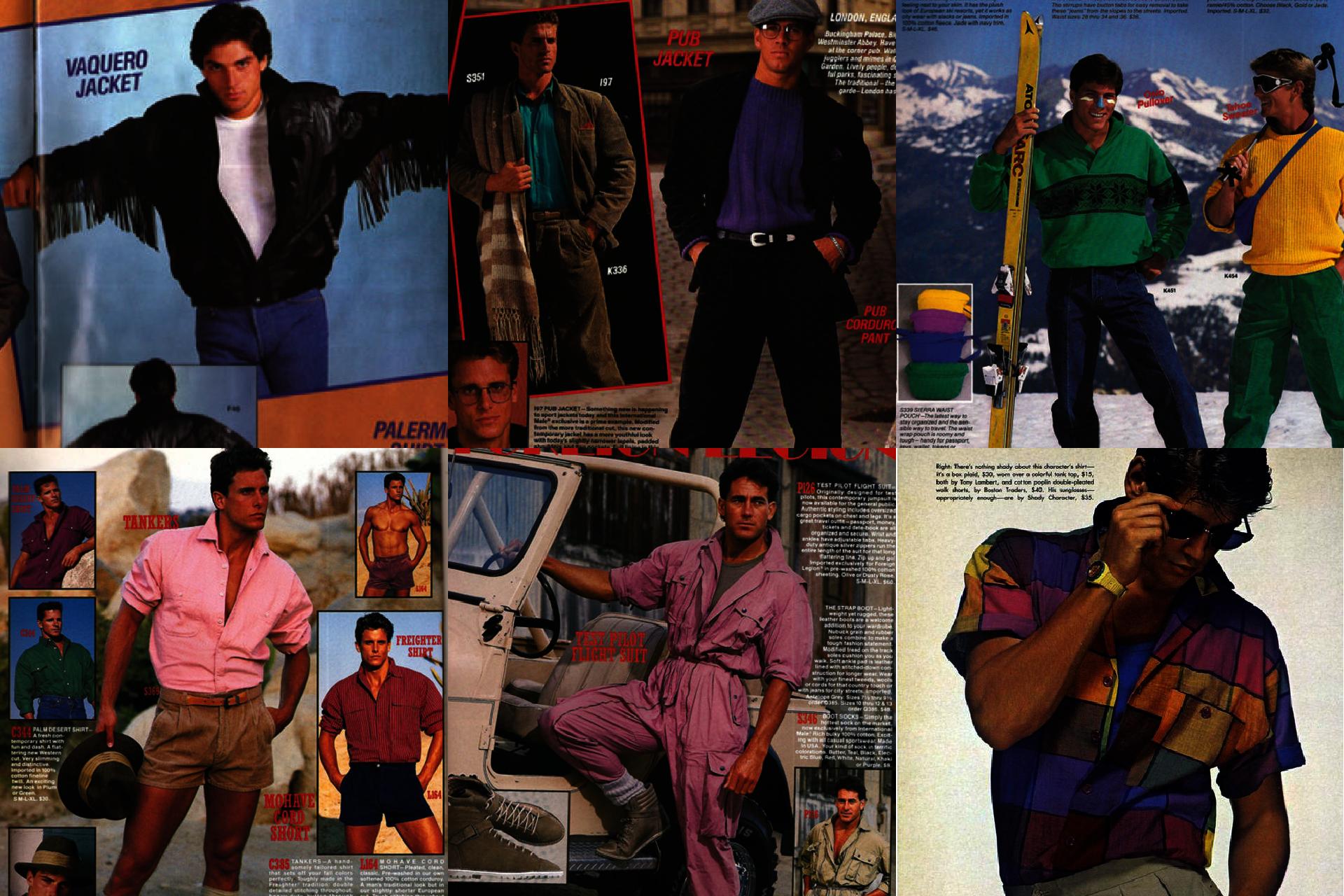 Historia mody męskiej, lata 80. w modzie męskiej
