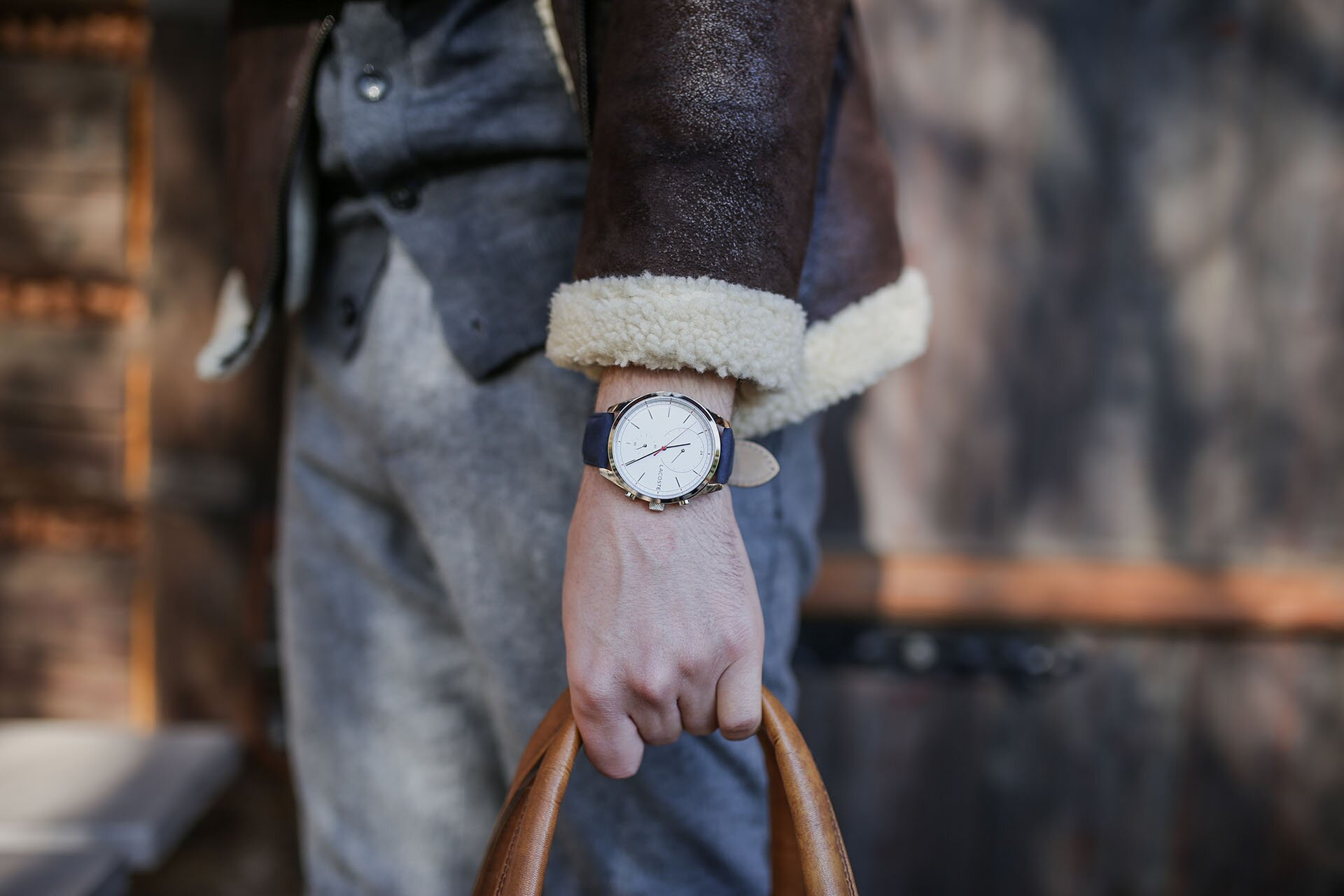 Kożuch męski, Zegarek Lacoste, Moda męska, Blog o modzie męskiej