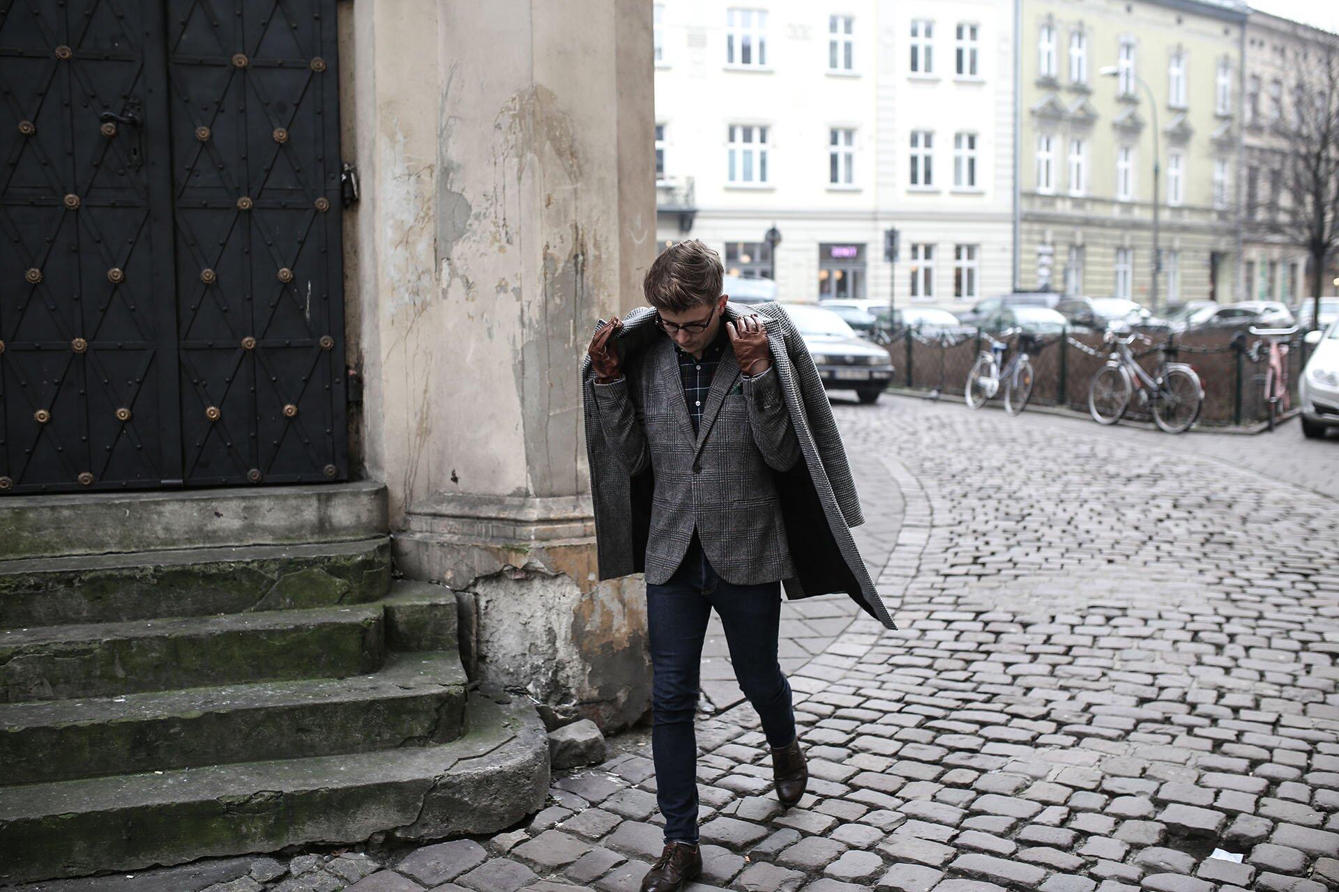 Marynarka w kratę, Moda męska w Krakowie, Bloger z Krakowa, Blog o modzie męskiej, GMALE by Grzegorz Paliś, Krakowski Kazimierz, Elegancki Mężczyzna