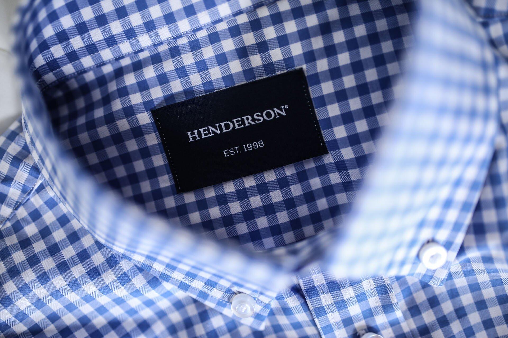 Koszula szyta na miarę, Koszula Henderson, Koszula męska na miarę, Rzeczy szyte na miarę online, Koszula online, Koszula w niebieską kratę Vichy, Moda męska blog, Blog o modzie męskiej, GMALE by Grzegorz Paliś