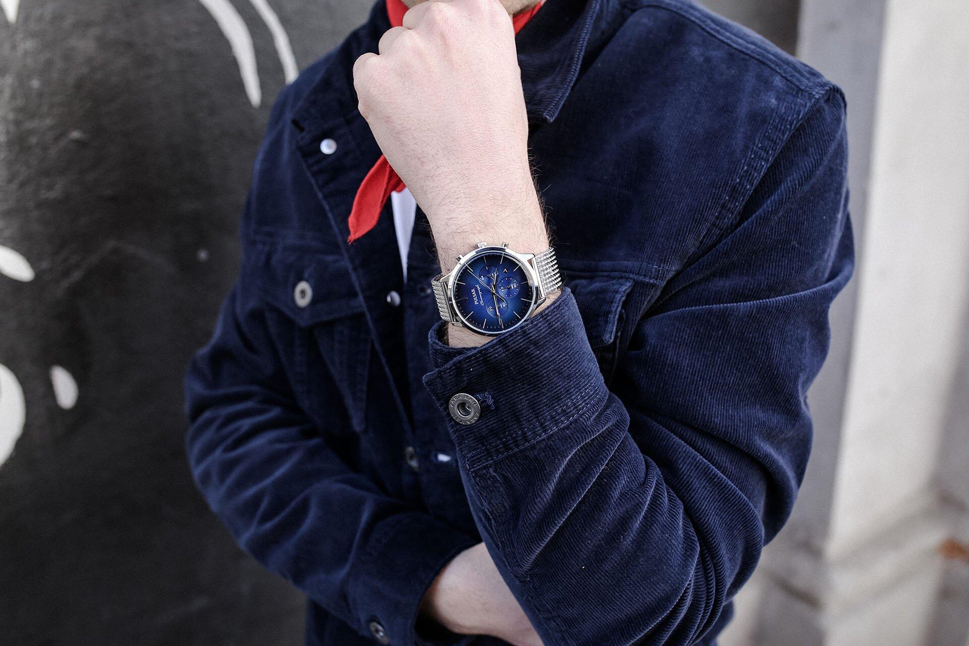 Zegarek męski Pulsar, Sztruks w modzie męskiej, Kurtka sztruksowa męska, GMALE by Grzegorz Paliś, Blog o modzie męskiej