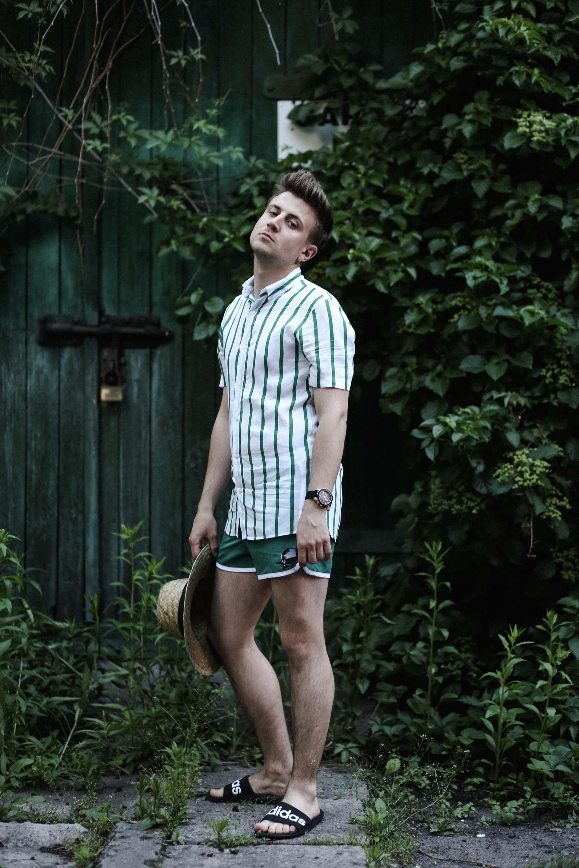 Koszula z krótkim rękawem, Moda męska, Blog o modzie męskiej, Grzegorz Paliś, Slipy męskie, Gmale, Zegarek Lacoste