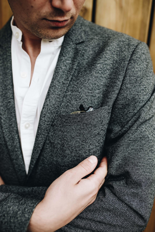 Szara marynarka, Oksfordy, Modny mężczyzna