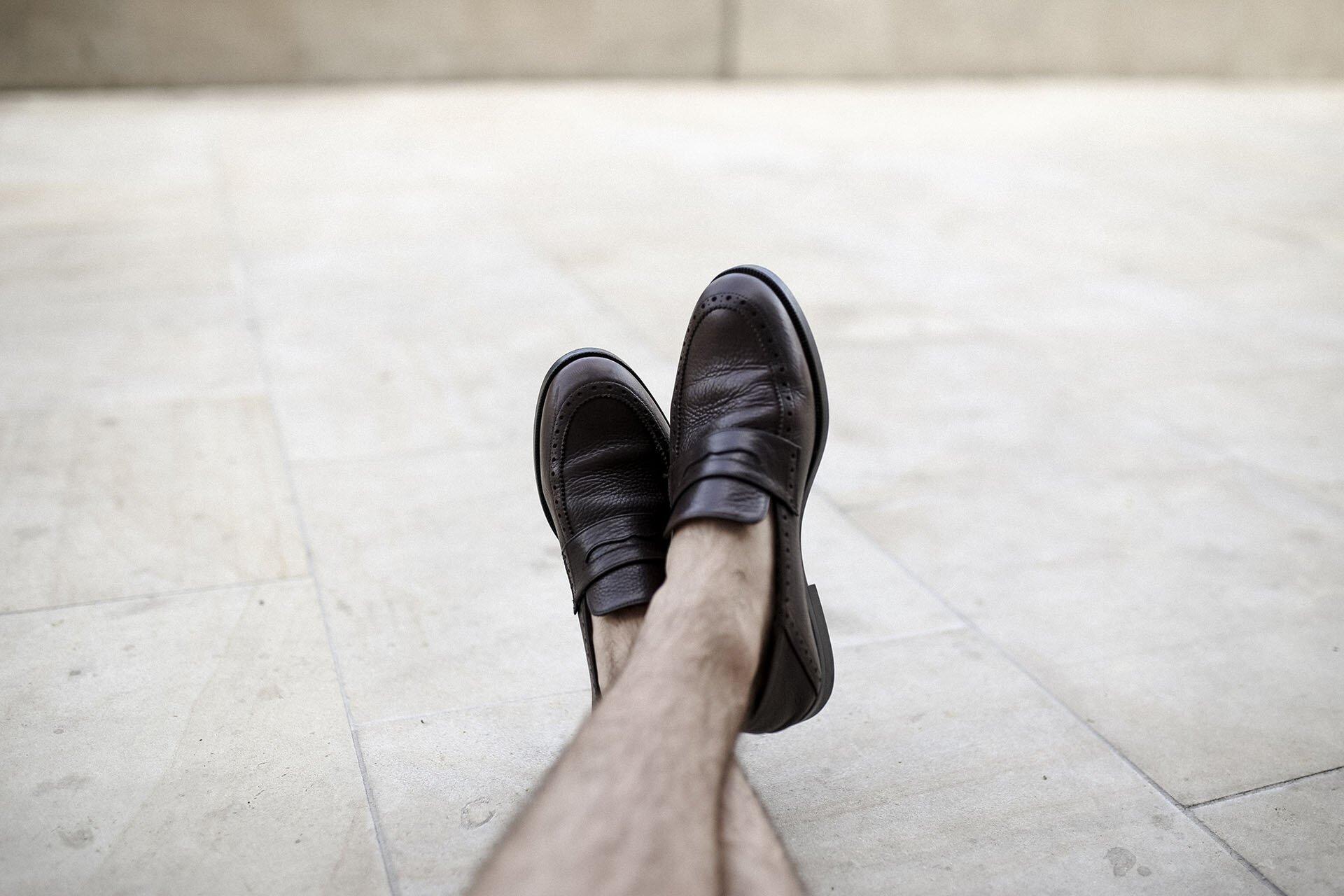 Skórzane Penny Loafers, Massimo Dutti, Buty męskie, Obuwie męskie, Eleganckie buty męskiej