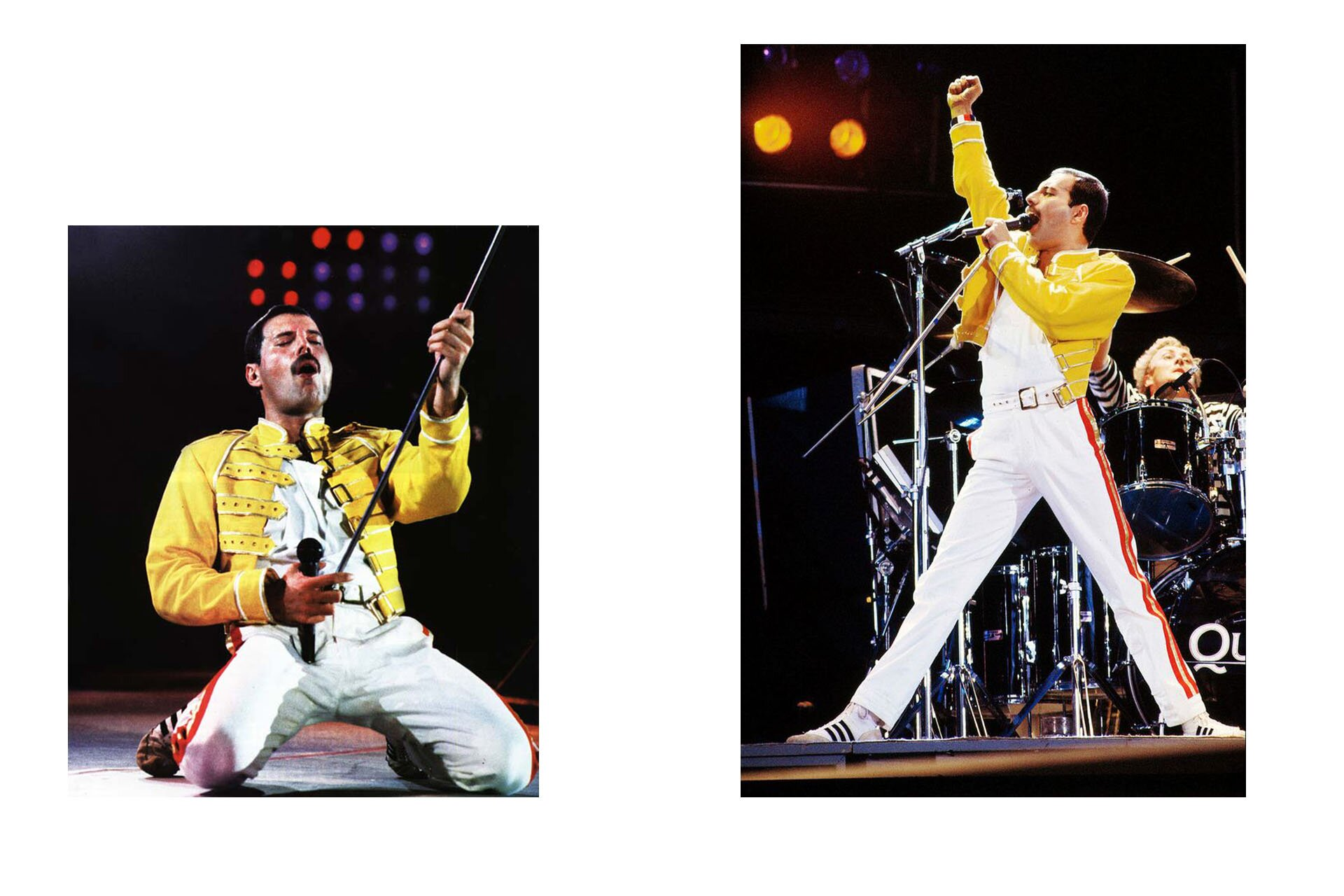 Wszyscy powinniśmy ubierać się jak Freddie, Freddie Mercury, Stylizacje Queen, Stylizacje Freddie, Magic Tour, Żółta kurtka, 10 przełomowych wcieleń modowych Freddiego