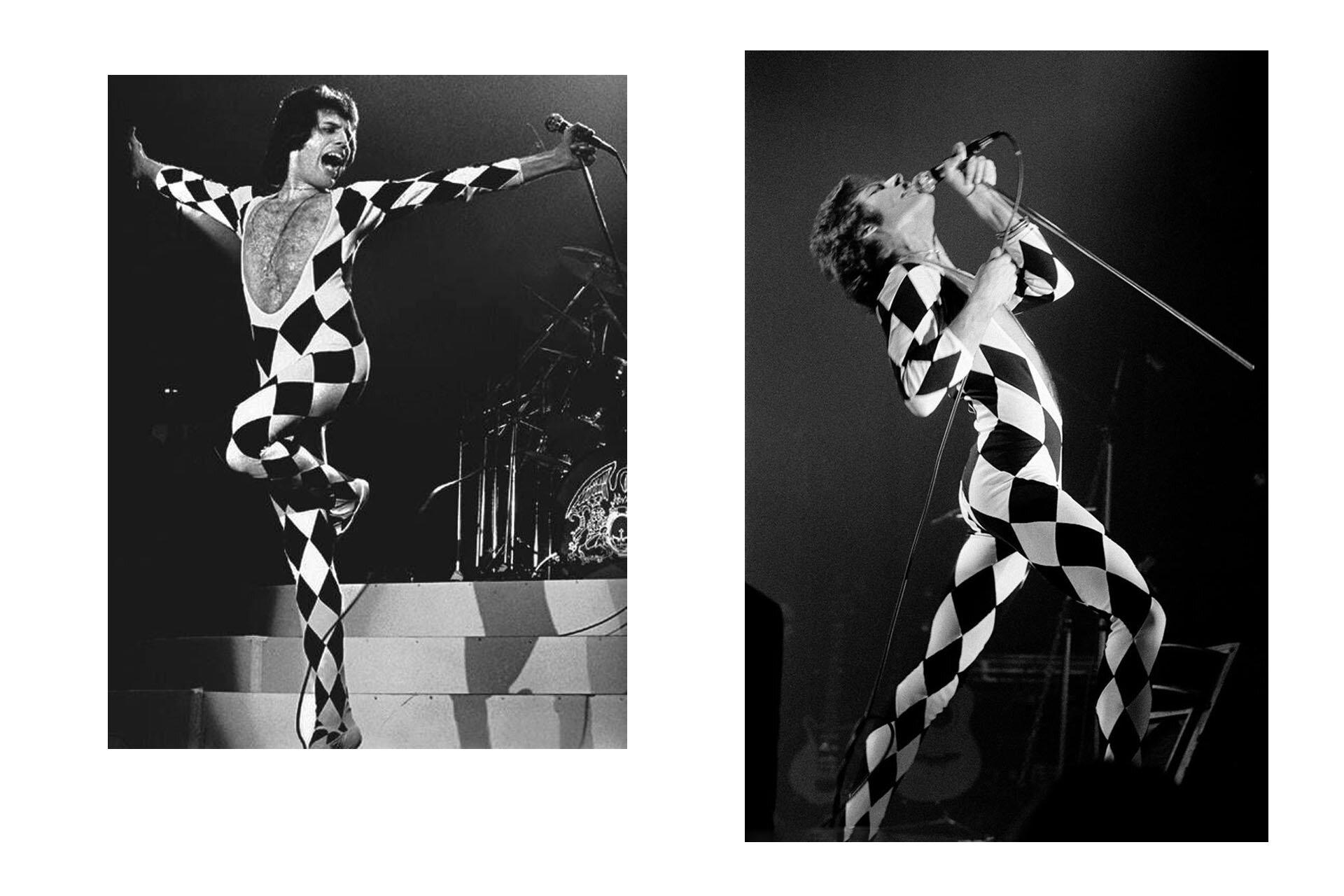 Wszyscy powinniśmy ubierać się jak Freddie, Freddie Mercury, Stylizacje Queen, Stylizacje Freddie, Kostium w romby, 10 przełomowych wcieleń modowych Freddiego