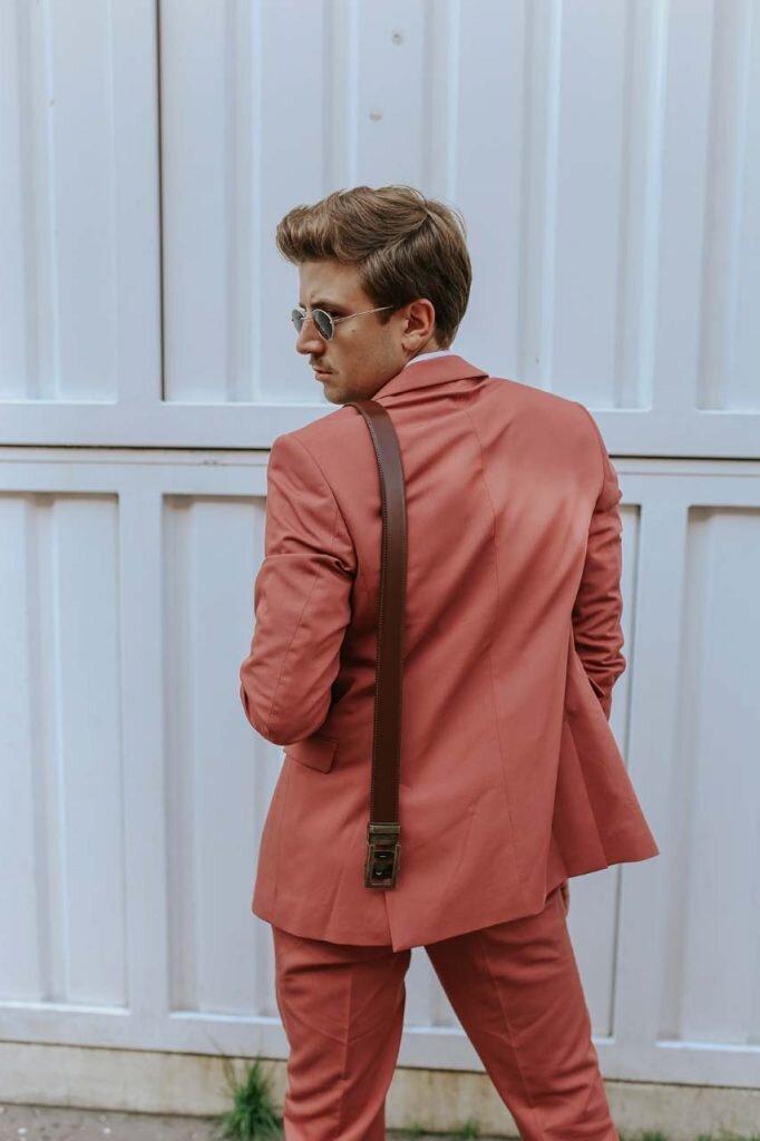 Pasek do spodni, Różowy garnitur męski, Moda męska, Blog o modzie męskiej, Grzegorz Paliś, GMALE, Dolnych Młynów, Paski męskie, Paski Strap's